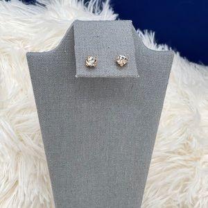 Cubic zirconia diamond earrings